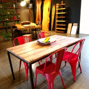 Tavolo in legno e ferro stile industriale Gary