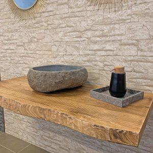 Mensola piano per lavabo da appoggio in legno rustico Old Wood