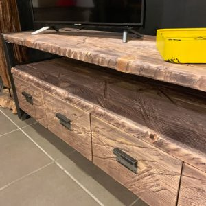 Mobile porta tv in legno di recupero grigio acecande Old Style