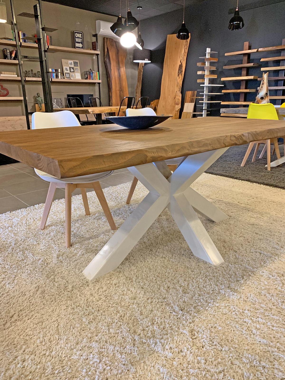 Tavolo da pranzo design moderno in legno massello - XLAB ...