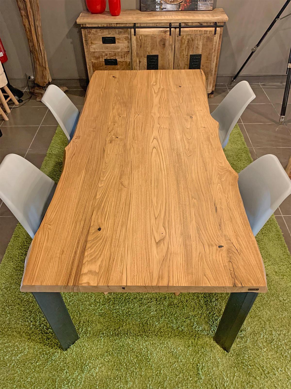 Tavolo in legno rustico stile industriale Cryss gambe in ...