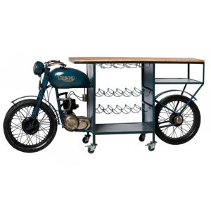 Mobile bar stile industriale Triumph moto vintage
