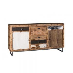 Credenza da soggiorno in legno massello esotico Safari