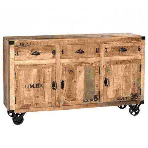 Madia in legno e ferro Stanley 3 cassetti + 3 ante
