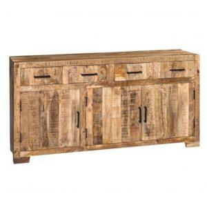 Credenza in legno esotico Town 4 cassetti + 3 ante