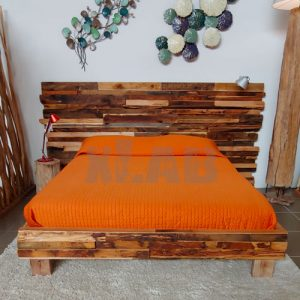 Letto matrimoniale legno di recupero Reuse Old Wood™