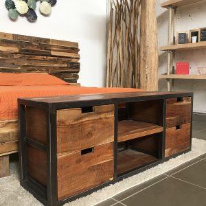 Mobili porta tv di design in legno massello xlab design for Mobili di design a basso costo