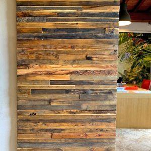 Porta scorrevole da interno in legno di recupero Fabius