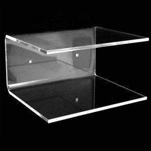 Mensola in plexiglass trasparente comodino 40x25x15 cm