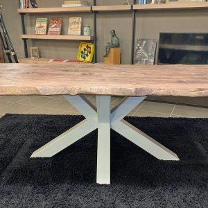 Tavolo in legno massello rustico effetto invecchiato Toby