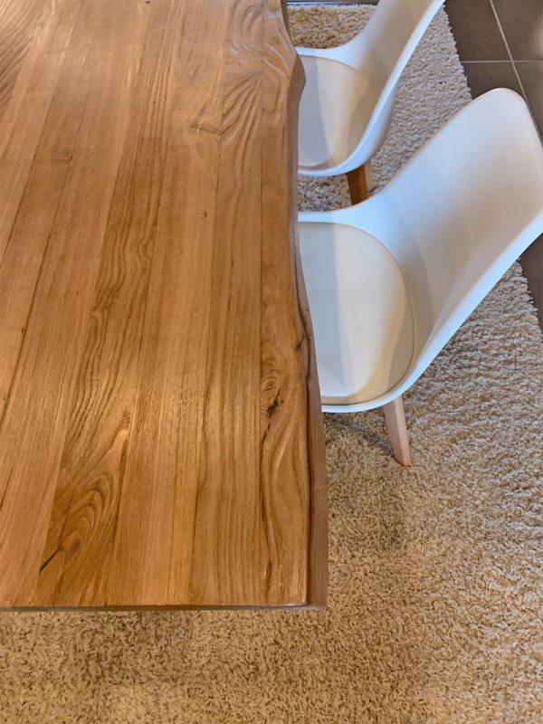 dettaglio alto legno massiccio tavolo rustico