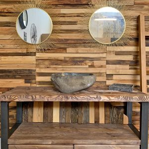 Mobile bagno stile industriale Old Style in legno e ferro colore grigio acecande