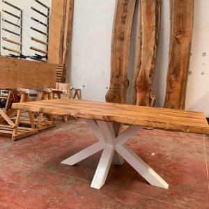 Offerta tavolo in legno di castagno antico finitura Old Wood