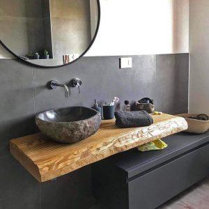 Mobile bagno sospeso 120 cm design moderno Sara