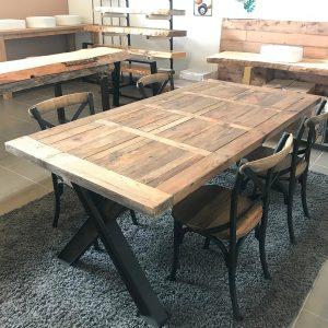 Set tavolo e sedie cucina – offerta stile industriale e legno di recupero