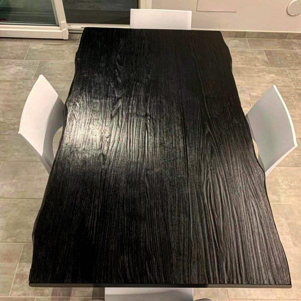 tavolo da cucina legno massello gamba in ferro