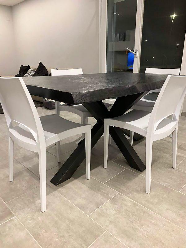 tavolo da cucina i legno colore nero