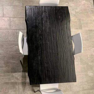 Tavolo da cucina nero All Black in legno massello