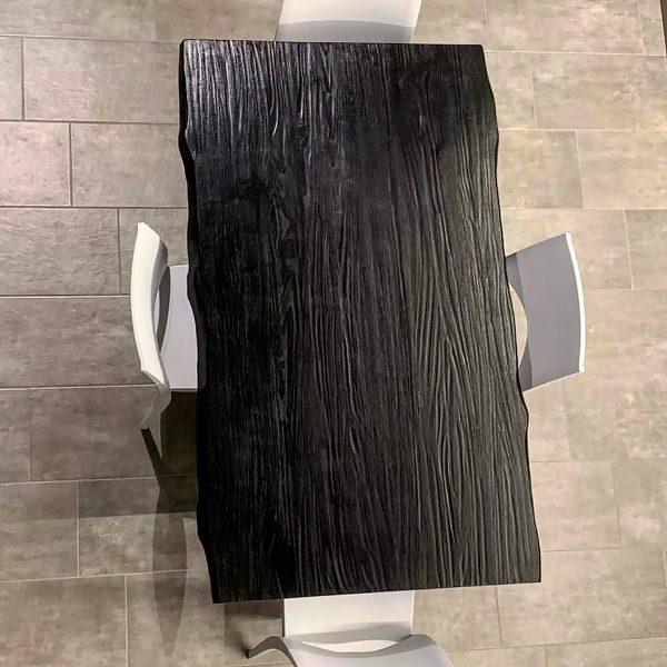 tavolo in legno massello allblack