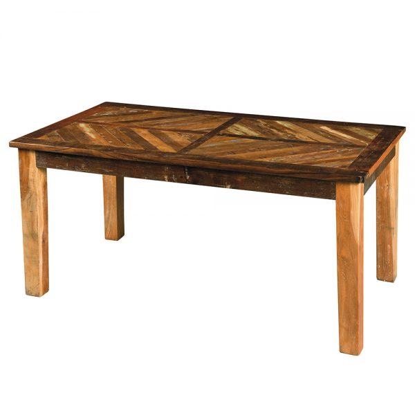 Tavolo allungabile in legno stile vintage con gambe in legno