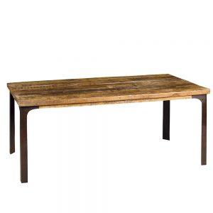 Tavolo in stile industrial legno e ferro