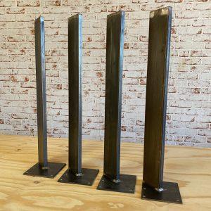 Gambe in ferro per tavolo SLIM disponibile in tre colori