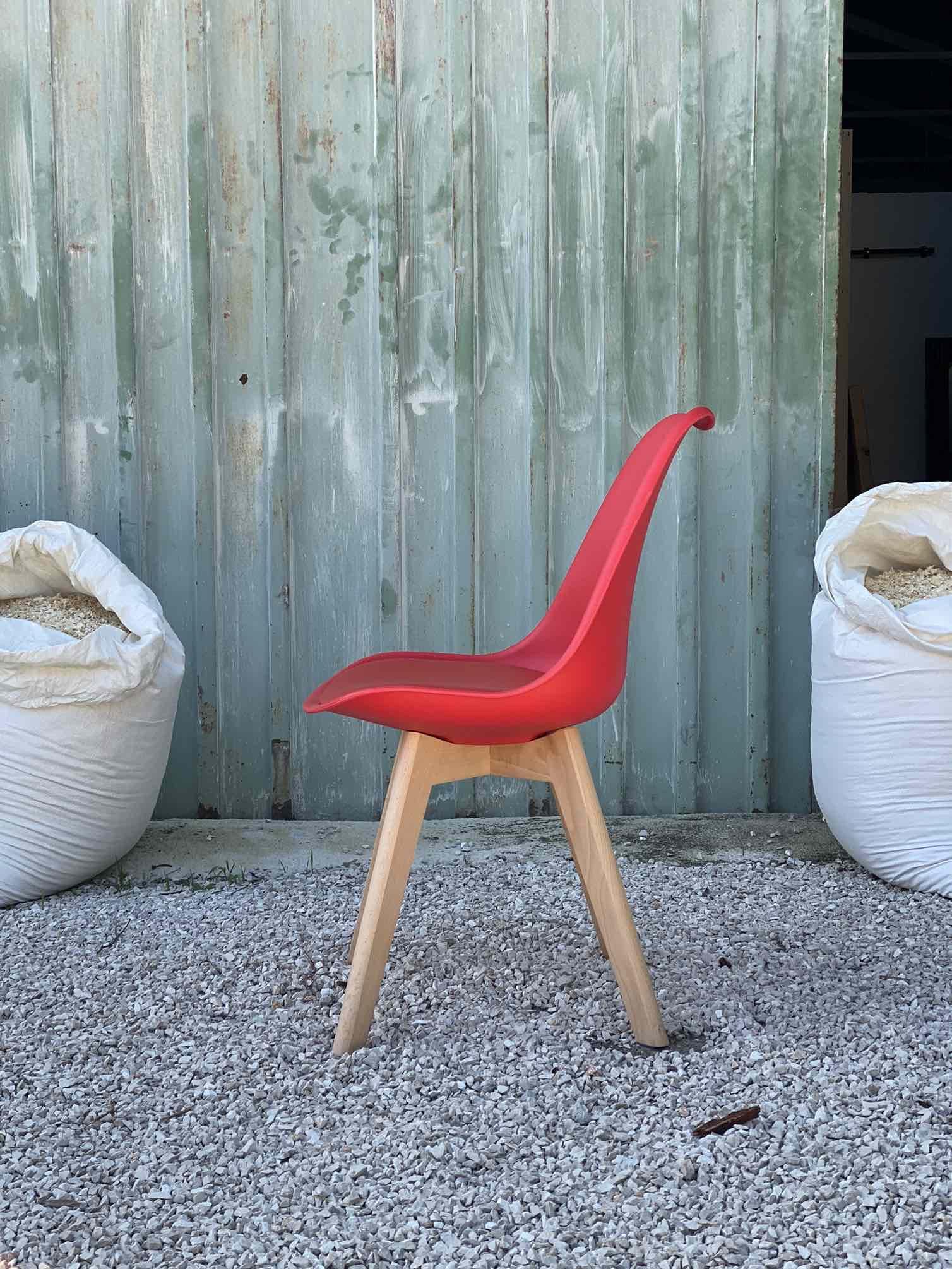 Sedie Rosse Set Di 4 Sedie Design Moderno Con Seduta In Ecopelle