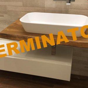 Offerta mobile da bagno con mensola e cassetto 130×50 cm
