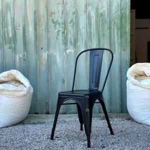 4 sedie da cucina in ferro stile industriale