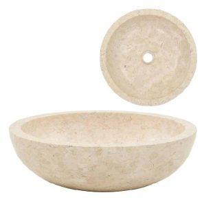 Lavabo in marmo 40×15 cm colore bianco