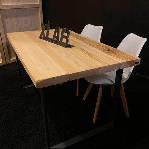 Tavolo in legno gambe in ferro 120×80 cm Otto