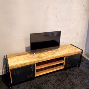 Mobile porta TV stile industriale legno e metallo – Store