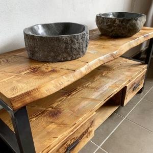 Mobili bagno legno grezzo