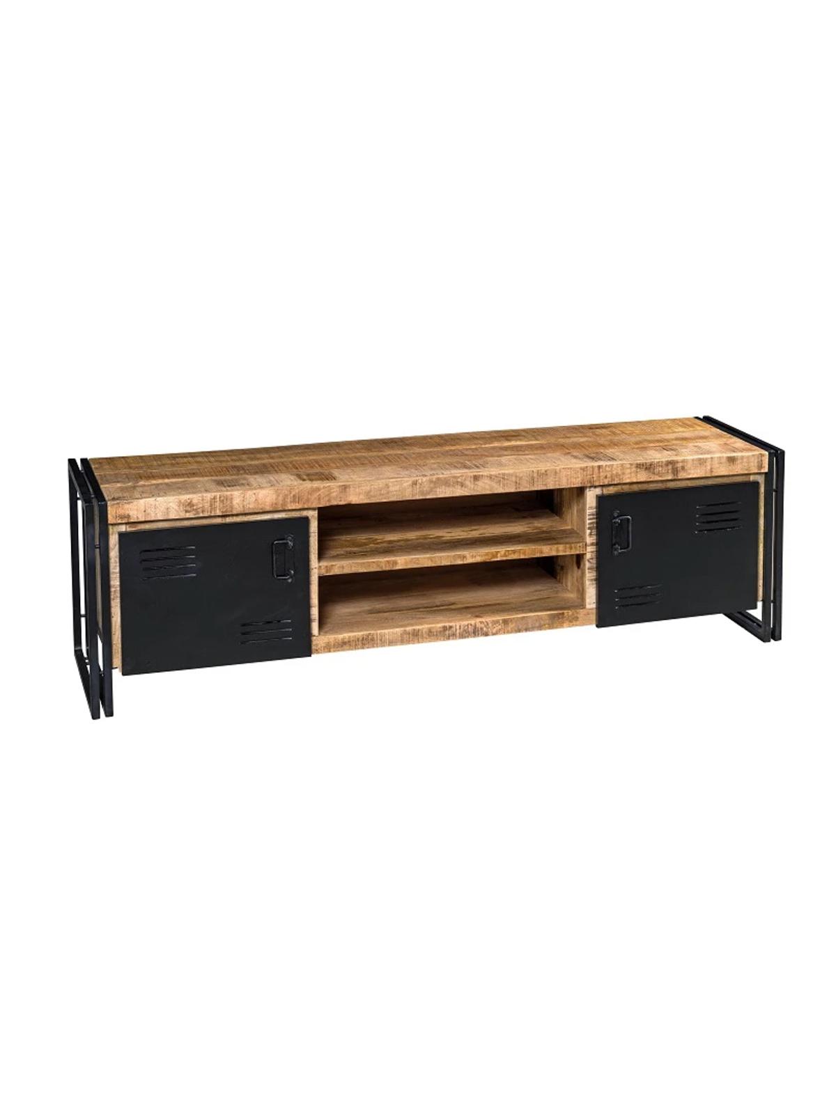 Mobili Porta Tv Stile Industriale.Mobile Porta Tv Stile Industriale In Legno Ante In Ferro Xlab Design