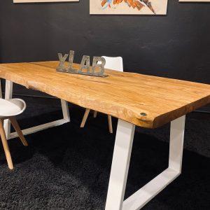 Tavolo legno rustico da cucina colore teak