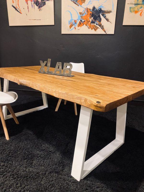 Tavolo legno rustico di castagno colore teak 200x90 cm