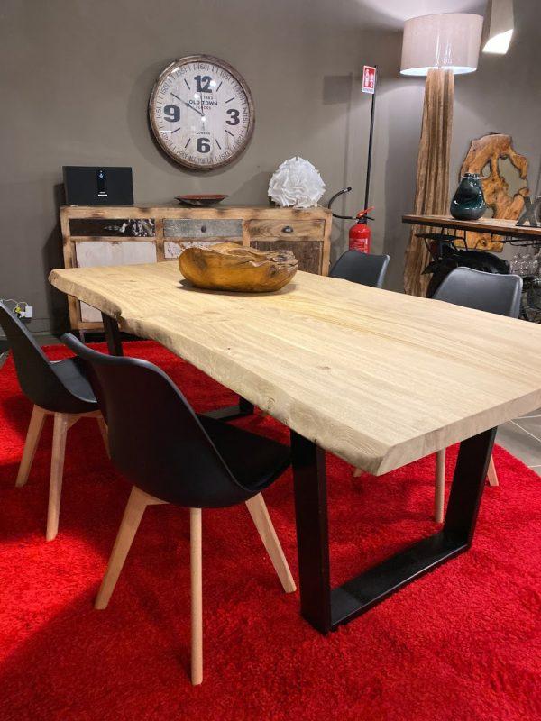 Tavolo da cucina in legno di rovere massello di design moderno