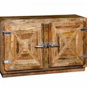 Madia con sportelli Refrigerateur in legno effetto vintage due ante