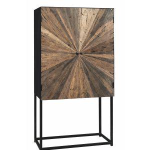 Credenza buffet verticale sala da pranzo in legno e struttura in ferro