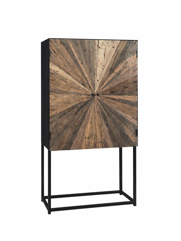 credenza verticale stile industriale legno e ferro