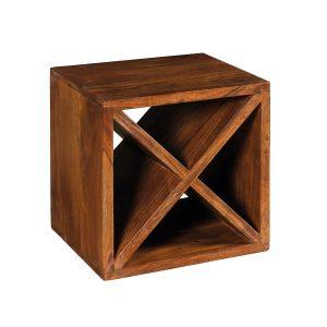 Cubo portabottiglie vino in legno massello componibile