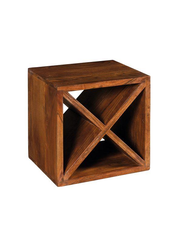 Cubo in legno portabottiglie in legno