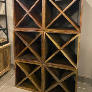 Cubo portabottiglie vino in legno componibile
