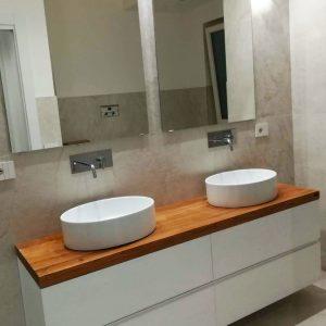 Mobile bagno con cassetti sospeso in legno Dany