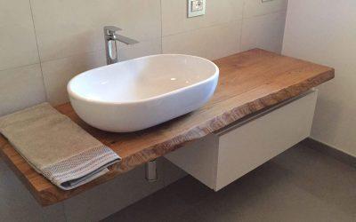 Top bagno legno massello: garanzia idrorepellente 5 anni