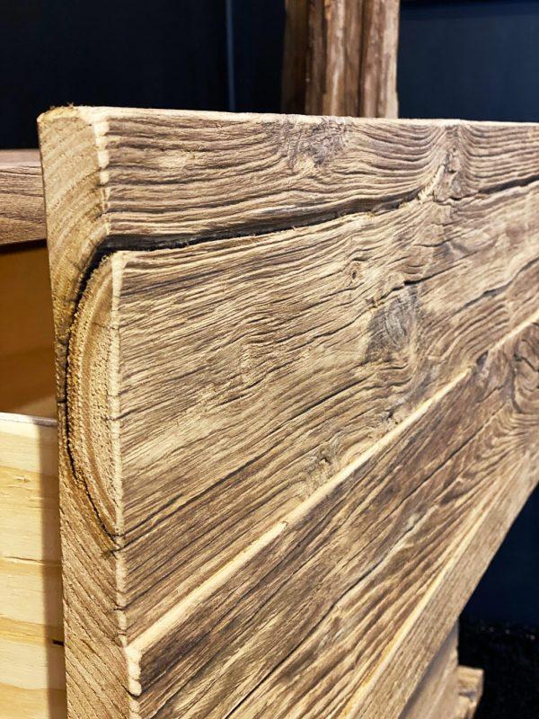 madia credenza da soggiorno legno antico con cassetti