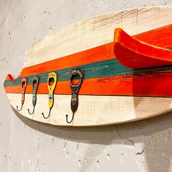 gancio appendiabiti da parete tavola da surf attaccapanni da muro xlab design