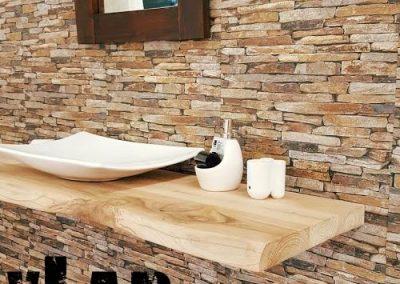 Mensola da bagno in legno per lavabo da appoggio