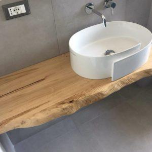 Mensole per lavabo in legno massello