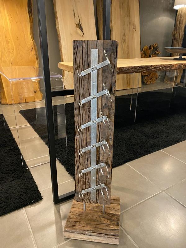 Portabottiglie in legno stile vintage